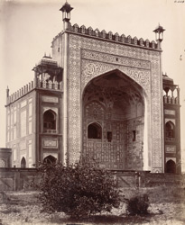 Sikandra. Akbar's Tomb. Blind-gate, west side of the grounds around the tomb